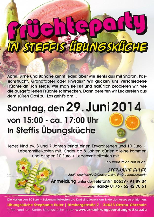 """Eltern-Kind-Kochkurs im Juni """"Früchteparty"""""""