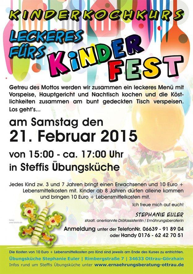 "Kinderkochkurs im Februar ""Leckeres fürs Kinderfest"""