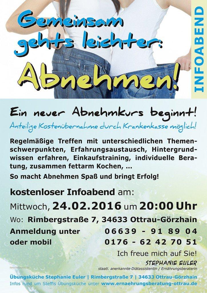 """Gemeinsam geht's leichter – ABNEHMEN"" – neuer Kurs 2016"