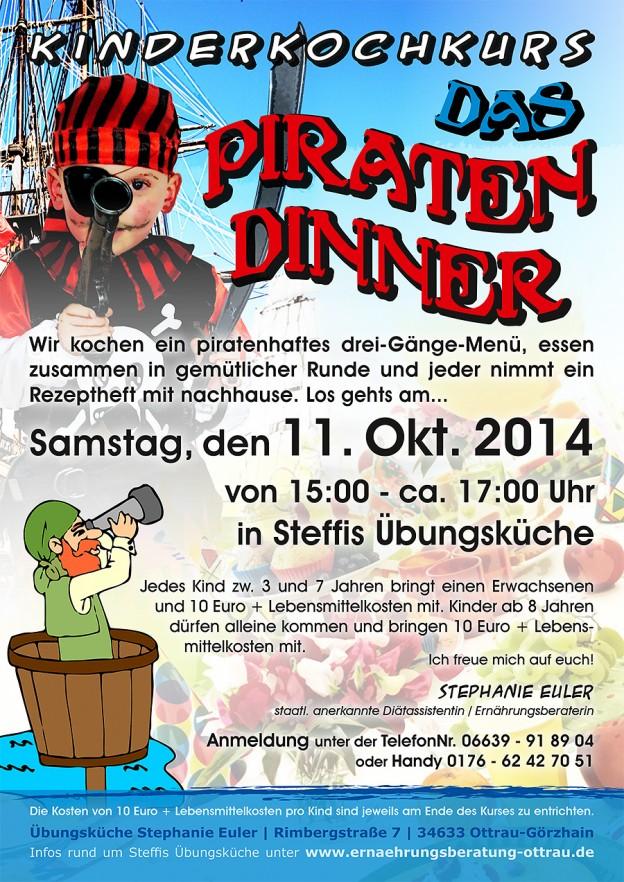 Kinderkochkurs im Oktober – Das Piraten-Dinner